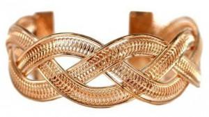 Bracelet manchette doré mode