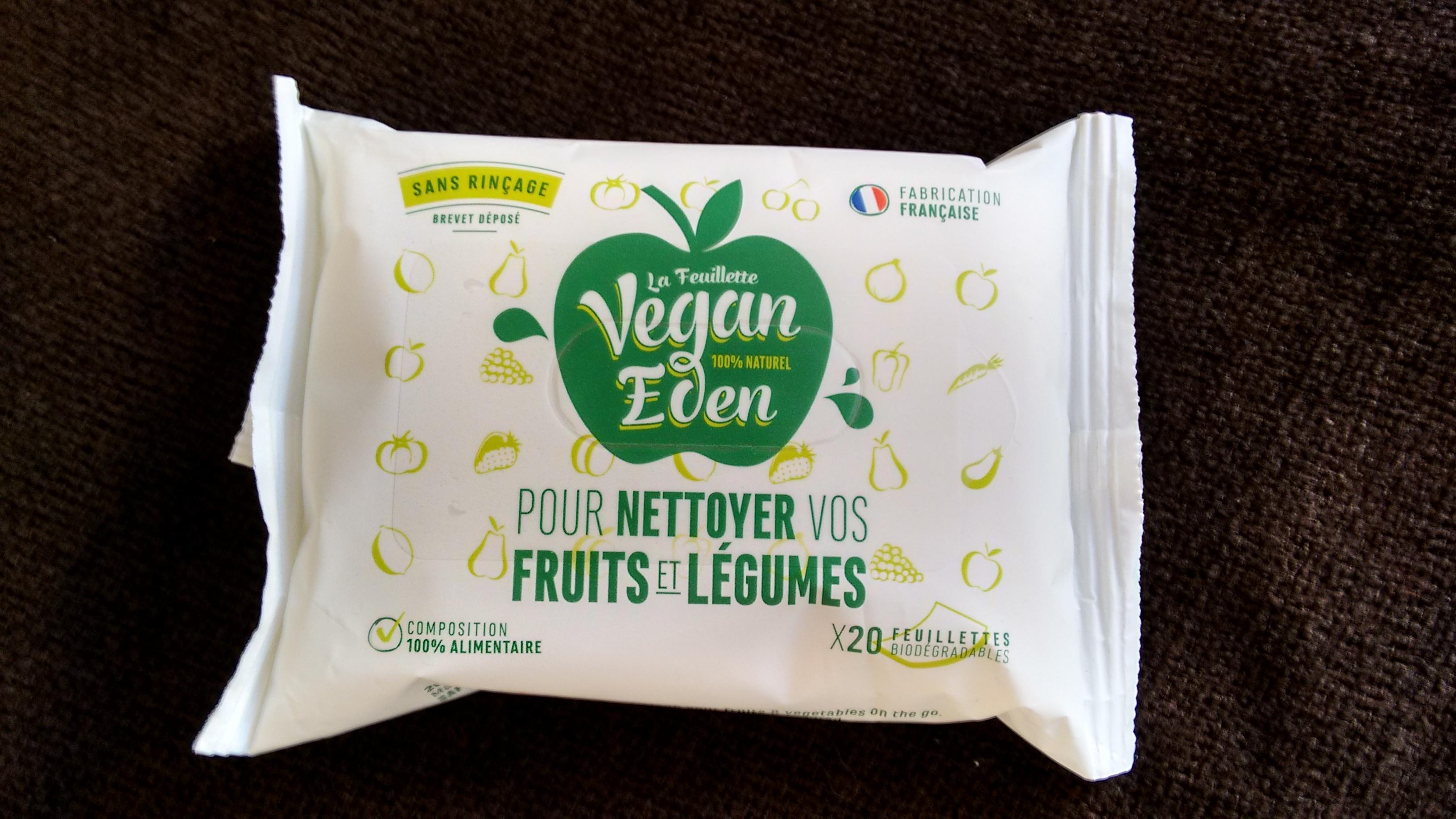 vegan eden les lingettes 100 naturelles pour nettoyer ses fruits. Black Bedroom Furniture Sets. Home Design Ideas